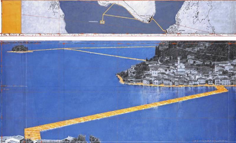 Il ponte fluttuante di Christo sul lago di Iseo