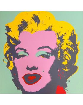 Marilyn Monroe-Pink On Green 11.23 - Andy Warhol