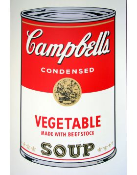 Campbell's Soup Vegetable -Andy Warhol