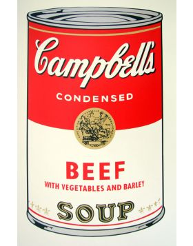 Campbell's Soup Beef - Andy Warhol