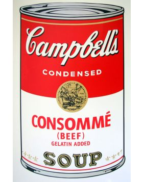 Campbell's Soup Consommè Beef - Andy Warhol