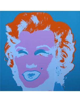 Marilyn Monroe-Purple On Blue 11.29 - Andy Warhol