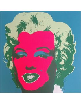 Marilyn Monroe-Pink On Blue 11.30