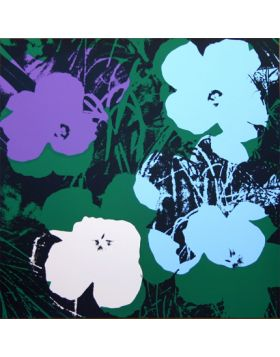 Flowers - Purple/Green 11.64 - Andy Warhol