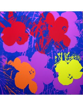 Flowers Red/Orange/Yellow On Purple 11.66 - Andy Warhol