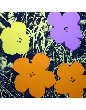 Flowers Orange/Yellow/Purple 11.67 - Andy Warhol