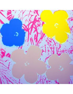 Flowers Yellow/Gold/Blue On Pink 11.70 - Andy Warhol
