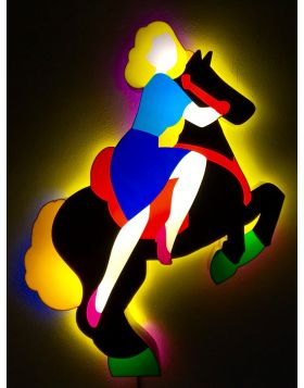 Pin up a cavallo (scultura luminosa)