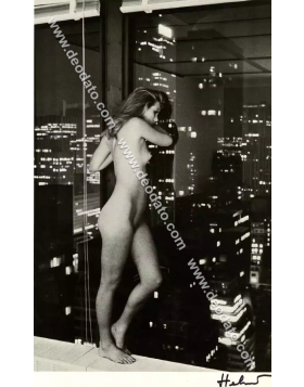 Patti Hansen over Manhattan - Helmut Newton