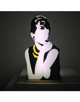 Audrey Hepburn - light sculpture
