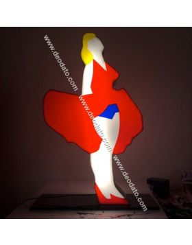 Marilyn Monroe (Scultura in perspex luminosa)