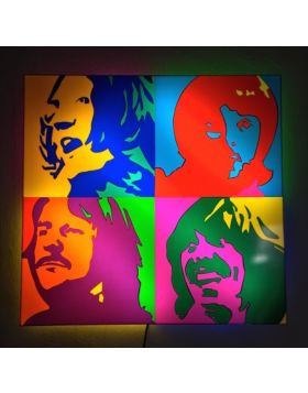 The Beatles - (Scultura in perspex luminosa)