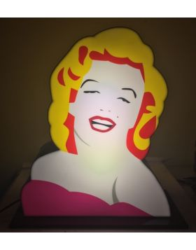 Marilyn (Scultura in perspex luminosa)