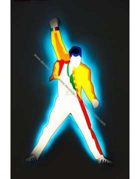 Freddie Mercury (Scultura in perspex luminosa)