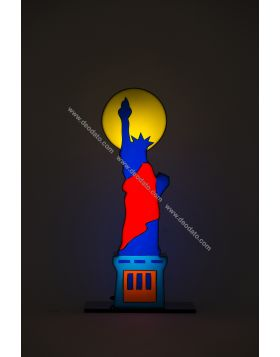 Statue of Liberty - light sculpture