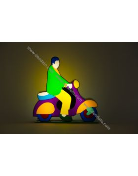 Vespa (Scultura in perspex luminosa)