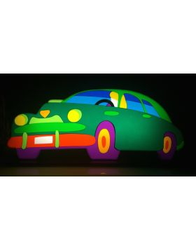 Green Car - light sculpture