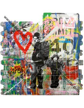 Chaplin and the kid - Mr Brainwash
