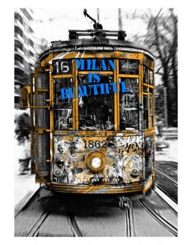 Mr Brainwash - Tram Milan is Beautiful Blue