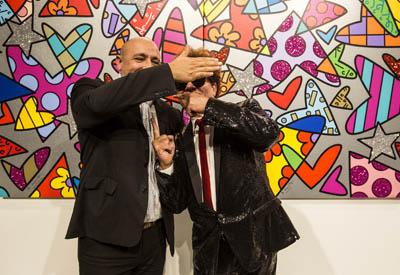 Romero Britto e Deodato Salafia