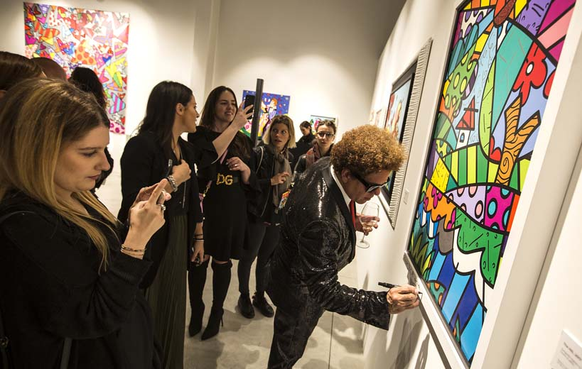 Romero Britto in Fraciacorta Outlet