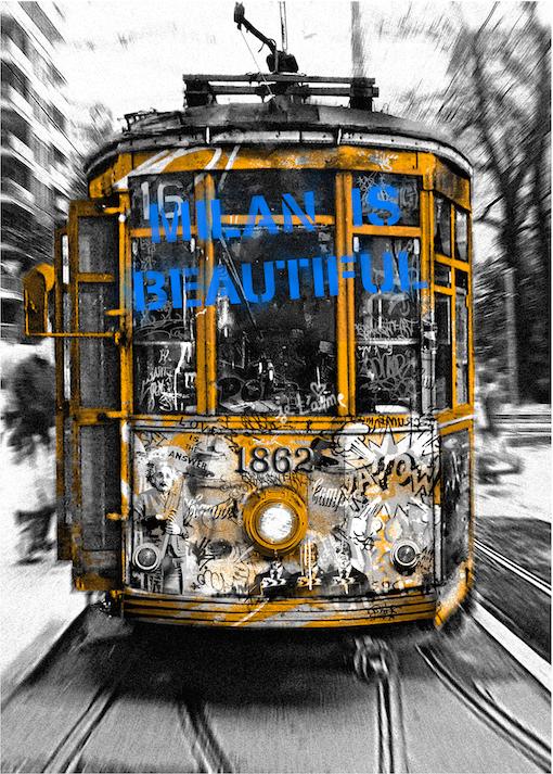 Tram-limited edition by Mr.Brainwash