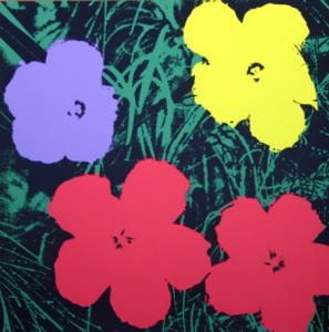 Andy Warhol: Opere Fiori o meglio Flowers