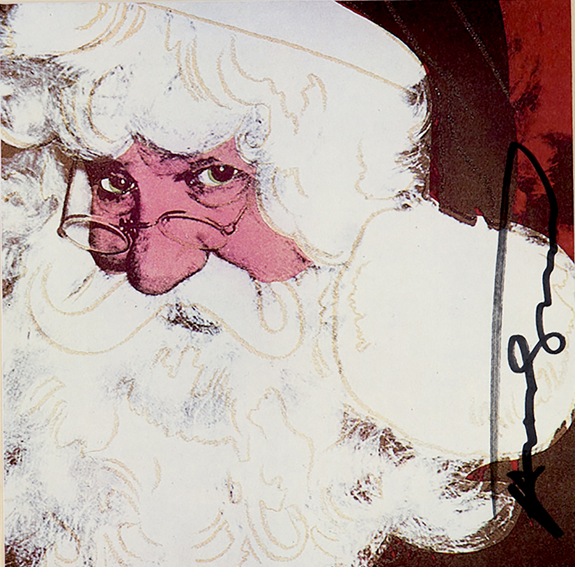 Santa Clause by Andy Warhol