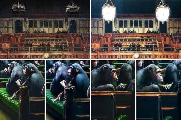 Banksy - differenze in Devolved Parliament dopo la rivisitazione dello street artist