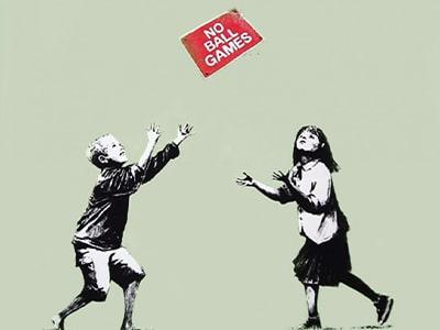 Artista in cui Investire 2020 - Banksy - Opera no Ball Games