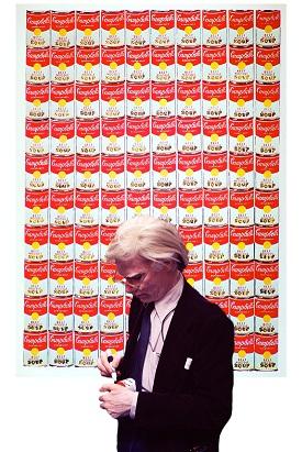Andy Warhol Firma Lattina Campbell's Soup