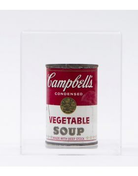 Barattolo Campbell's Soup con Firma Andy Warhol